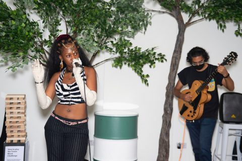 muva of Earth closing out the second day in the Boundless Ideas Space with a set of soulful music